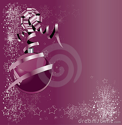 Free Abstract Violet Illustration With Xmas Balls Stock Photography - 17216532