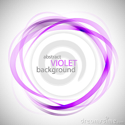 Free Abstract Violet Rings Vector Background Stock Images - 34160294