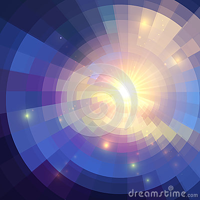 Free Abstract Violet Shining Circle Tunnel Background Royalty Free Stock Photos - 33430868