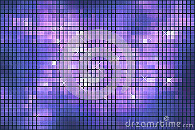 Abstract violet sparkling mosaic