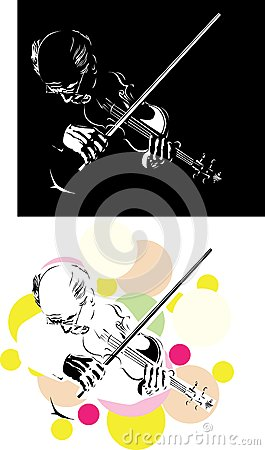 Abstract violinist