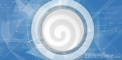Abstract virtual futuristic fade computer technology business background Vector Illustration