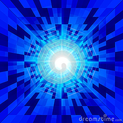 Abstract virtual space  background.