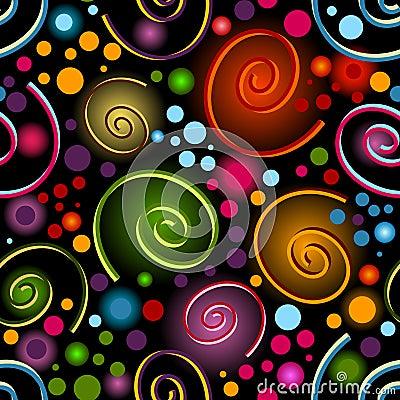 Abstract vivid seamless black pattern