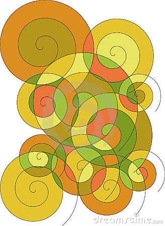 Abstract voluted illustration