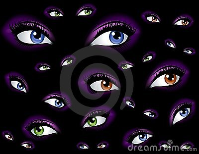 Abstract Watching Eyes Background