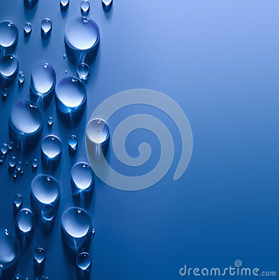 Abstract  Water Drops Background with Beautiful Light