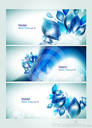 Free Abstract Water Headers With Splash Stock Photos - 24553663
