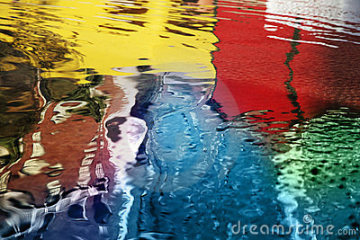 Abstract water reflections