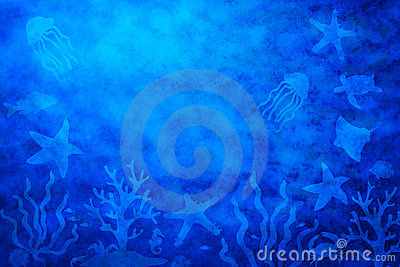 Abstract Water Sea Life Background