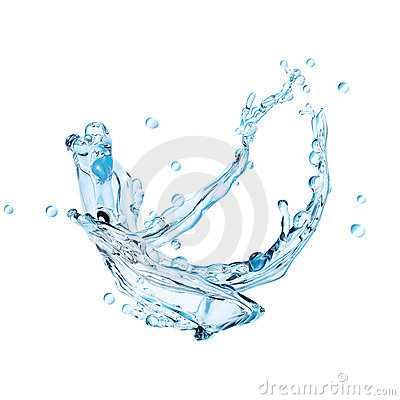 Abstract water splash