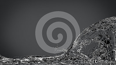 Abstract Water Splash on Elegant Dark Gray