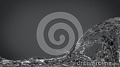 Abstract Water Splash on Elegant Dark Gray