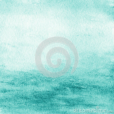 Free Abstract Watercolor Background. Blue Green Water Color Like Sea Stock Photos - 46022423