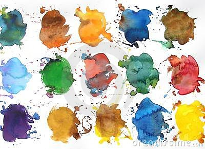 Abstract watercolor background design paint splash