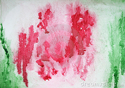 Abstract watercolor background on paper texture