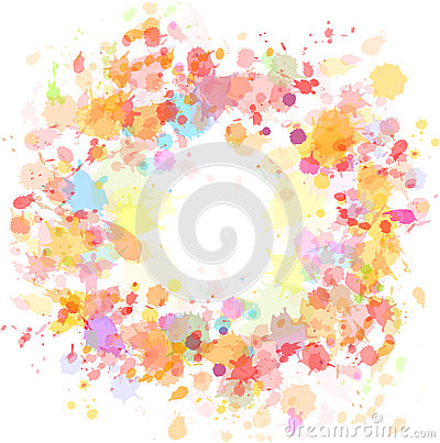 Free Abstract Watercolor Blobs Background Stock Photo - 24872740