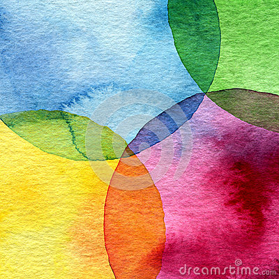 Free Abstract Watercolor Circle Background Stock Image - 34759331