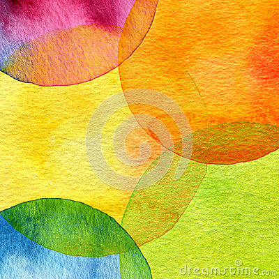 Free Abstract Watercolor Circle Painted Background Stock Photo - 35577800