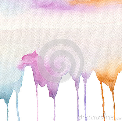 Free Abstract Watercolor Flow Down Painted Background. Royalty Free Stock Photography - 44197527