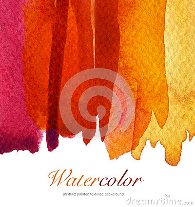Free Abstract Watercolor Flow Down Painted Background. Textured Royalty Free Stock Images - 46554199