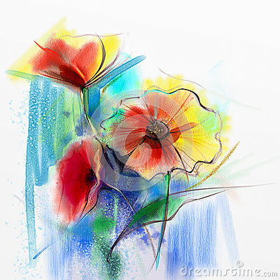 Acrylic Painting Floral Design