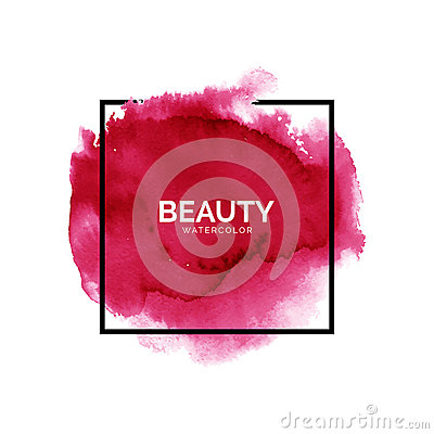 Free Abstract Watercolor Red Spot With Square Frame Stock Photo - 82536520