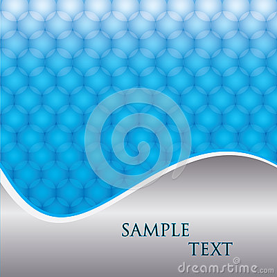Abstract wave line with sample