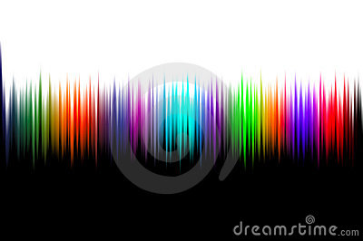 Abstract wave sounds background