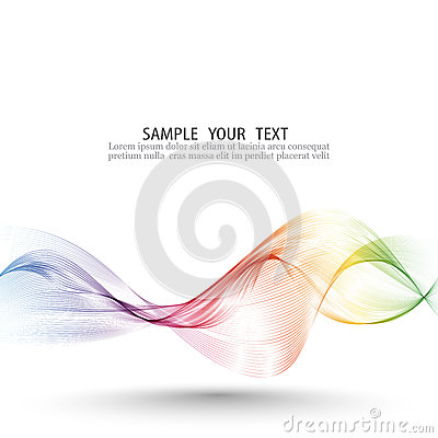 Free Abstract Wave Vector Background, Rainbow Waved Lines For Brochure, Website, Flyer Design. Spectrum Wave Color. Smoky Stock Images - 93094914