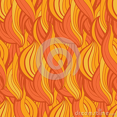 Free Abstract Waves Vector Seamless Pattern. Wavy Lines Of Fire Flame Decorative Hand Drawn Texture Stock Photography - 97542272