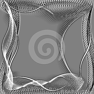 Abstract wavy frame