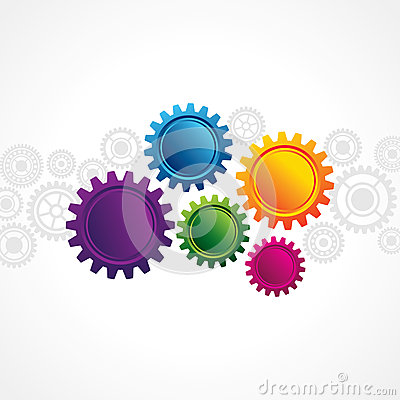 Abstract web design with copy space in cog wheel