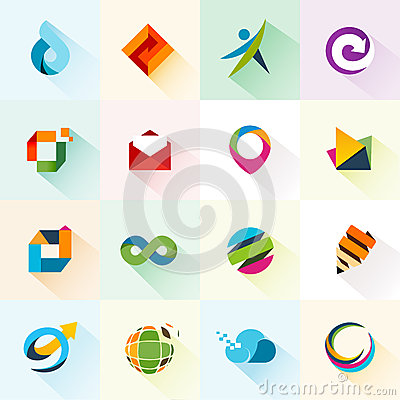 Abstract web Icons and elements