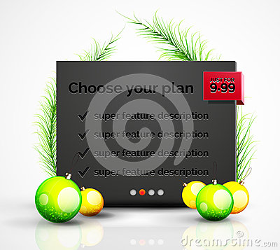 Free Abstract Web Message Box With Christmas Decoration Stock Photography - 60977602