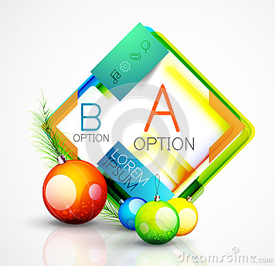 Free Abstract Web Message Box With Christmas Decoration Stock Image - 60986761
