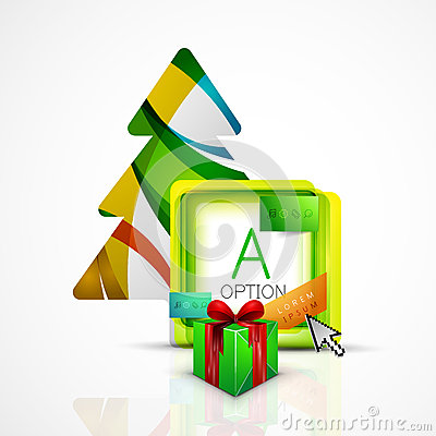 Free Abstract Web Message Box With Christmas Decoration Stock Photo - 60990620
