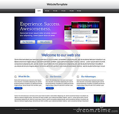 Abstract website template