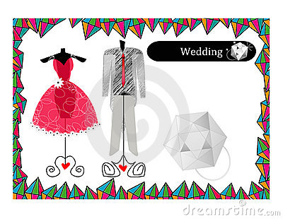 Abstract wedding dress