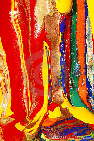 Abstract wet and dry paints