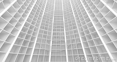 Abstract white architecture interior