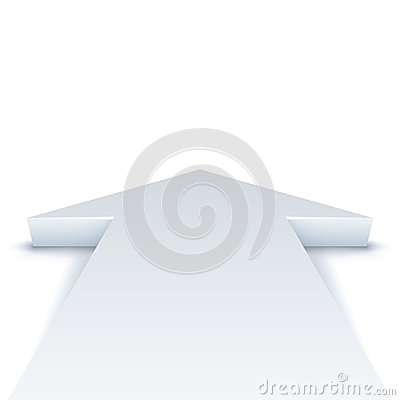 Abstract white arrow background