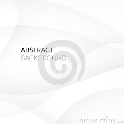 Abstract white background with smooth lines Vector Illustration