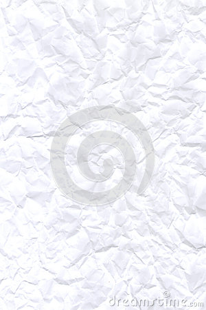 Abstract white crumpled paper