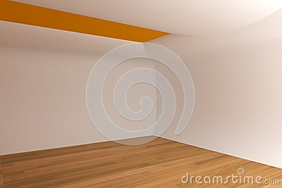 Abstract white curve wall