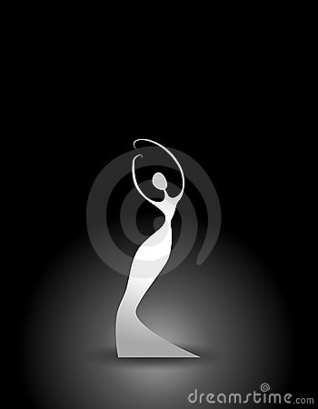 Abstract White Female Silhouette