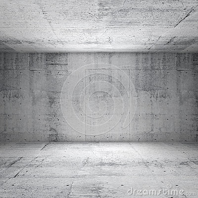 Free Abstract White Interior Of Empty Concrete Room Stock Photos - 33613663