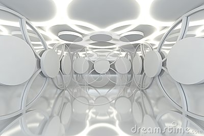 Abstract white sphere wall