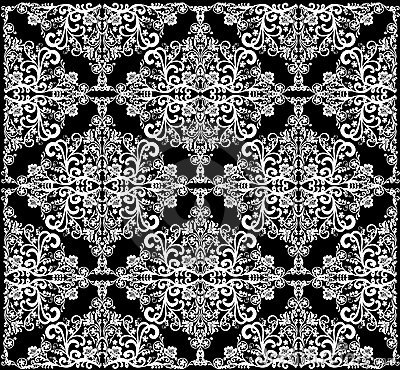 Abstract white symmetrical square pattern