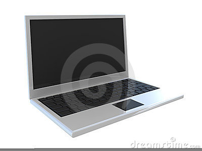 Abstract widescreen laptop